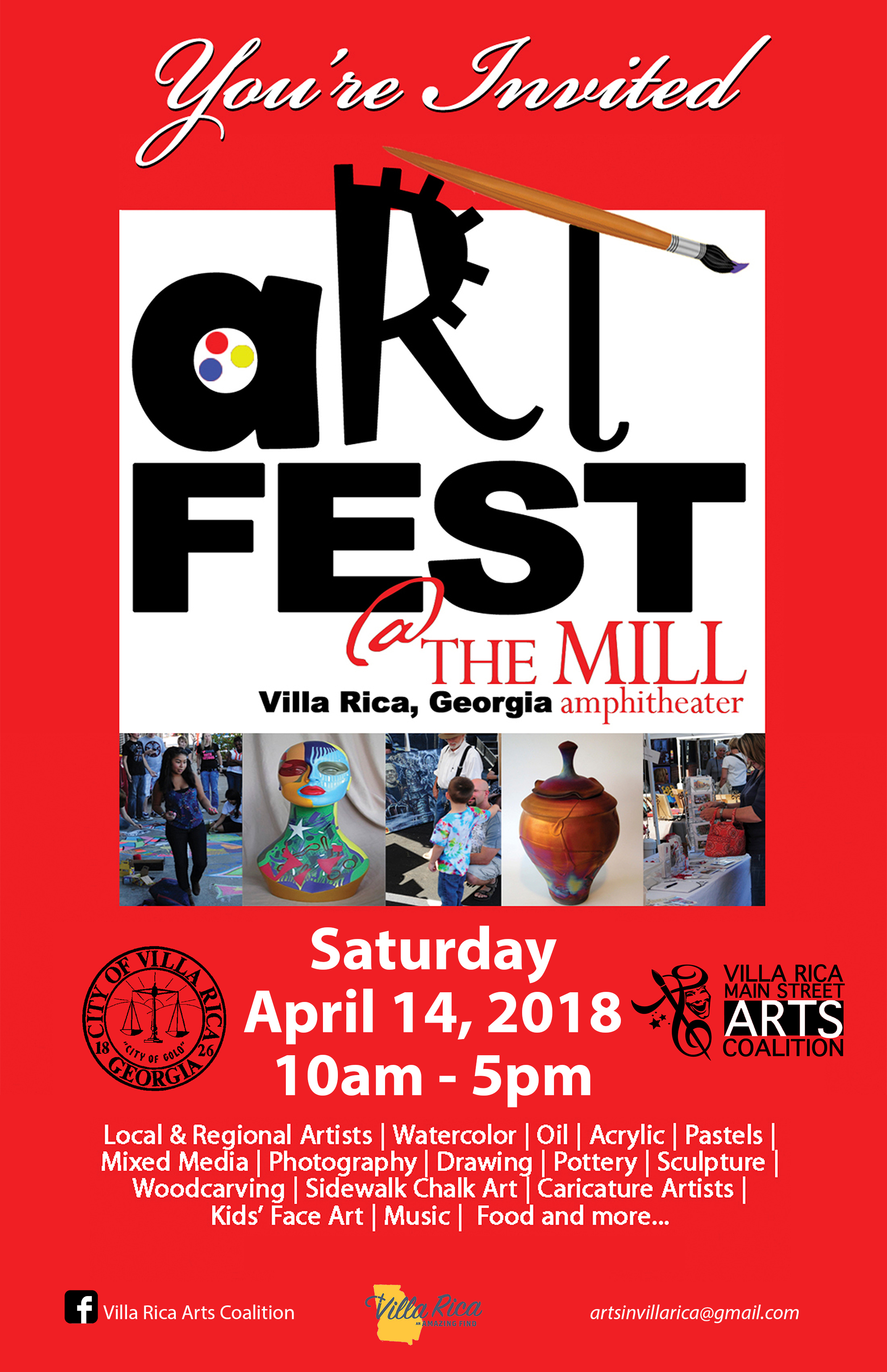 2018 west georgia artfest downtown villa rica