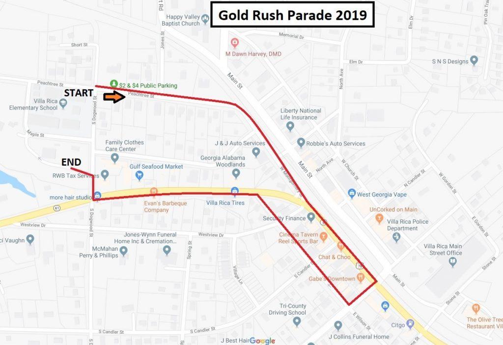 Gold Rush Parade – Downtown Villa Rica